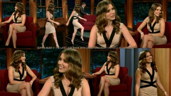 Sophia Bush @ The Late Late Show with Craig Ferguson | January 10th, 2012 | 1 Collage *Sexy*