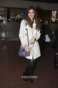Victoria Justice outside her hotel in London 2/20/12